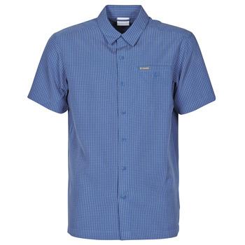 Textil Muži Košile s krátkými rukávy Columbia LAKESIDE TRAIL Modrá