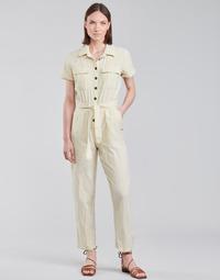 Textil Ženy Overaly / Kalhoty s laclem Roxy BEACH WONDERLAND Bílá