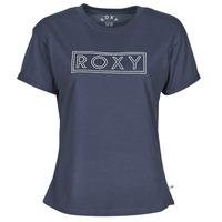 Textil Ženy Trička s krátkým rukávem Roxy EPIC AFTERNOON WORD Tmavě modrá