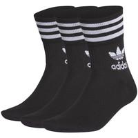 Spodní prádlo Ponožky adidas Originals Mid cut solid crew sock 3 pack Černá