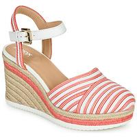 Boty Ženy Sandály Geox D PONZA Červená / Bílá