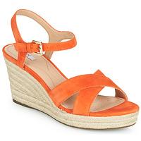 Boty Ženy Sandály Geox D SOLEIL Oranžová