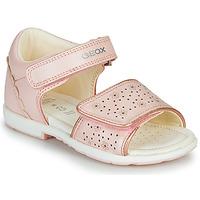 Boty Dívčí Sandály Geox B VERRED Růžová