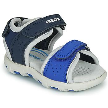 Boty Chlapecké Sandály Geox B SANDAL PIANETA Modrá