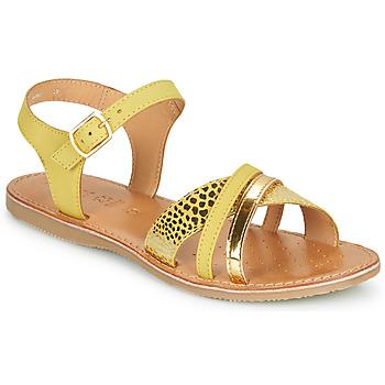 Boty Ženy Sandály Geox J SANDAL EOLIE GIRL Žlutá / Zlatá