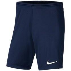 Textil Chlapecké Kraťasy / Bermudy Nike JR Park Iii Knit Tmavomodré