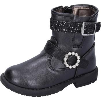 Boty Dívčí Polokozačky Asso Kotníkové Boty BK221 Černá