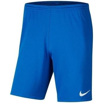 Textil Chlapecké Kraťasy / Bermudy Nike JR Park Iii Knit Modré