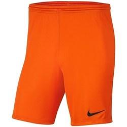 Textil Chlapecké Kraťasy / Bermudy Nike Dry Park Iii NB K Oranžové
