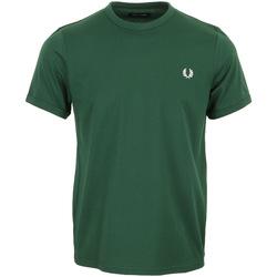 Textil Muži Trička s krátkým rukávem Fred Perry Ringer T-Shirt Zelená
