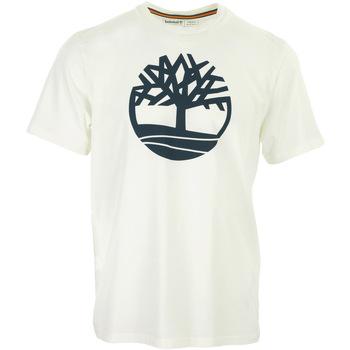Textil Muži Trička s krátkým rukávem Timberland Kennebec River Tree Logo Tee Bílá