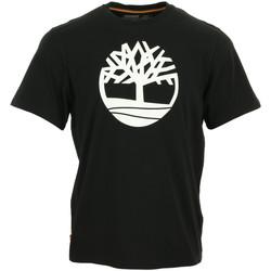 Textil Muži Trička s krátkým rukávem Timberland Kennebec River Brand Tree Černá