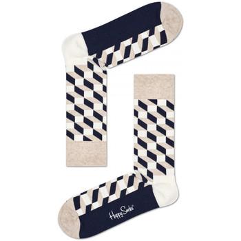 Doplňky  Muži Ponožky Happy Socks Filled optic sock Vícebarevné
