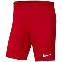 Textil Chlapecké Tříčtvrteční kalhoty Nike JR Park Iii Knit Červené