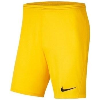 Textil Chlapecké Kraťasy / Bermudy Nike JR Park Iii Knit Žluté