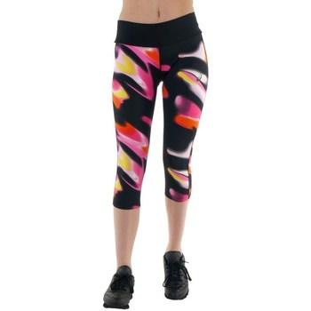 Textil Ženy Kalhoty Asics 34 Fuzex Knee Tight Černé, Růžové