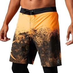 Textil Muži Tříčtvrteční kalhoty Reebok Sport Splatter Short Černé, Oranžové
