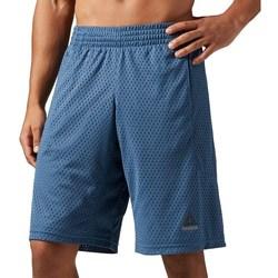 Textil Muži Tříčtvrteční kalhoty Reebok Sport Les Mills Mesh Modré