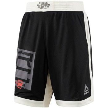 Textil Muži Tříčtvrteční kalhoty Reebok Sport Combat Boxing Bílé, Černé