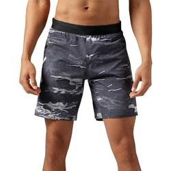 Textil Muži Tříčtvrteční kalhoty Reebok Sport Crossfit Speed Camo Grafitové