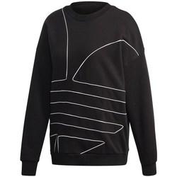Textil Ženy Mikiny adidas Originals Large Logo Sweatshirt Černé