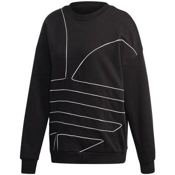 adidas Mikiny Large Logo Sweatshirt - Černá