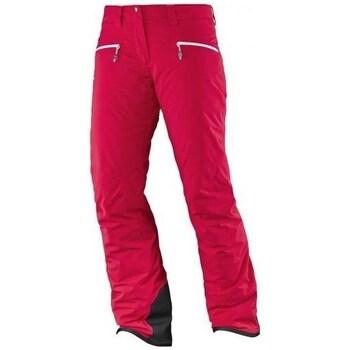 Textil Ženy Kalhoty Salomon Whitecliff Gtx W Červené