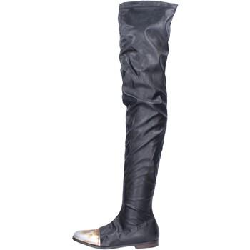 Boty Ženy Kozačky Moma BK302 Černá