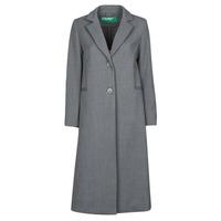 Textil Ženy Kabáty Benetton  Šedá