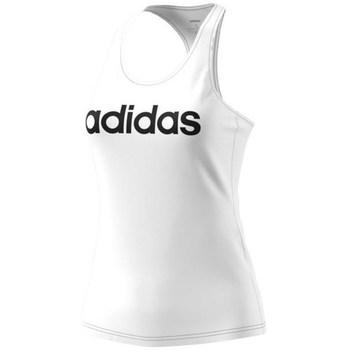 Textil Ženy Tílka / Trička bez rukávů  adidas Originals Ess Lin Slim Bílé