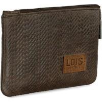 Taška Muži Peněženky Lois DAVIDSON Pánská kožená peněženka Brown