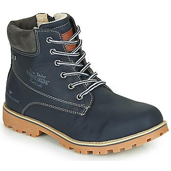 Boty Chlapecké Kotníkové boty Tom Tailor 70502-NAVY Tmavě modrá