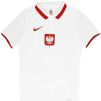 Textil Muži Polo s krátkými rukávy Nike Polska Breathe Home Bílé, Červené