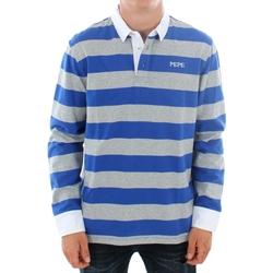 Textil Muži Polo s dlouhými rukávy Pepe jeans FERDINAN PM541219 593 ROYAL BLUE Azul