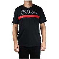 Textil Muži Trička s krátkým rukávem Fila Men Laurentin Tee Černé, Červené