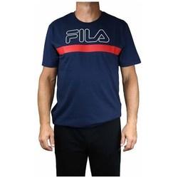 Textil Muži Trička s krátkým rukávem Fila Men Laurentin Tee Červené, Tmavomodré