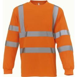 Textil Trička s dlouhými rukávy Yoko T-Shirt manches longues  Haute Visibilité orange