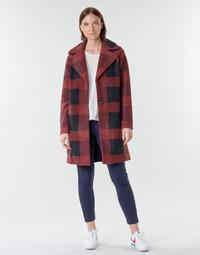 Textil Ženy Kabáty Only ONLVICKI Červená / Černá
