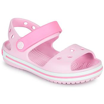 Boty Dívčí Sandály Crocs CROCBAND SANDAL KIDS Růžová
