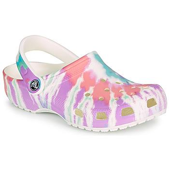 Boty Ženy Pantofle Crocs CLASSIC TIE DYE GRAPHIC CLOG
