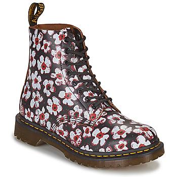 Boty Ženy Kotníkové boty Dr Martens 1460 PASCAL Černá / Bílá / Červená