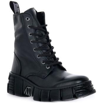 Boty Kotníkové boty New Rock WALL ASA LUXOR NEGRO Nero