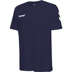 Textil Děti Trička s krátkým rukávem Hummel T-shirt enfant  hmlGO cotton bleu marine