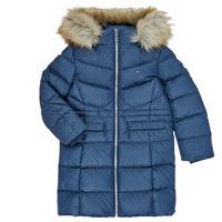 Textil Dívčí Prošívané bundy Tommy Hilfiger KG0KG05397-C87-C Tmavě modrá