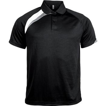 Textil Muži Polo s krátkými rukávy Proact Polo manches courtes  Sport noir/blanc/gris clair