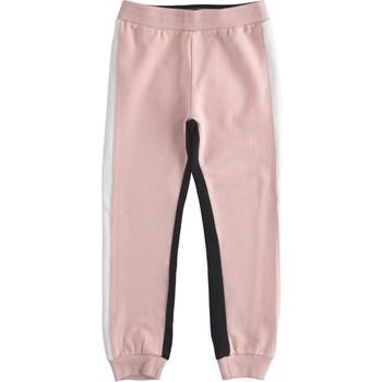 Textil Dívčí Teplákové kalhoty Ido 41377 Růžová