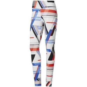 Textil Ženy Legíny Reebok Sport One Series Lux Bold Bílé, Červené, Modré