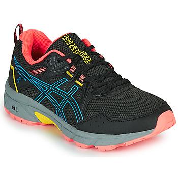Boty Ženy Běžecké / Krosové boty Asics VENTURE 8 Černá / Modrá
