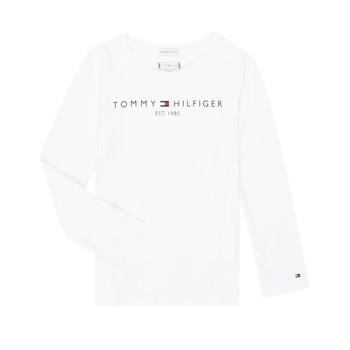 Textil Dívčí Trička s dlouhými rukávy Tommy Hilfiger KG0KG05247-YBR-J Bílá
