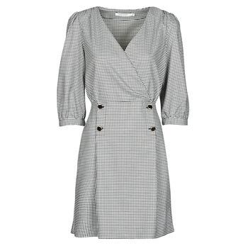 Textil Ženy Krátké šaty Naf Naf  Černá / Bílá